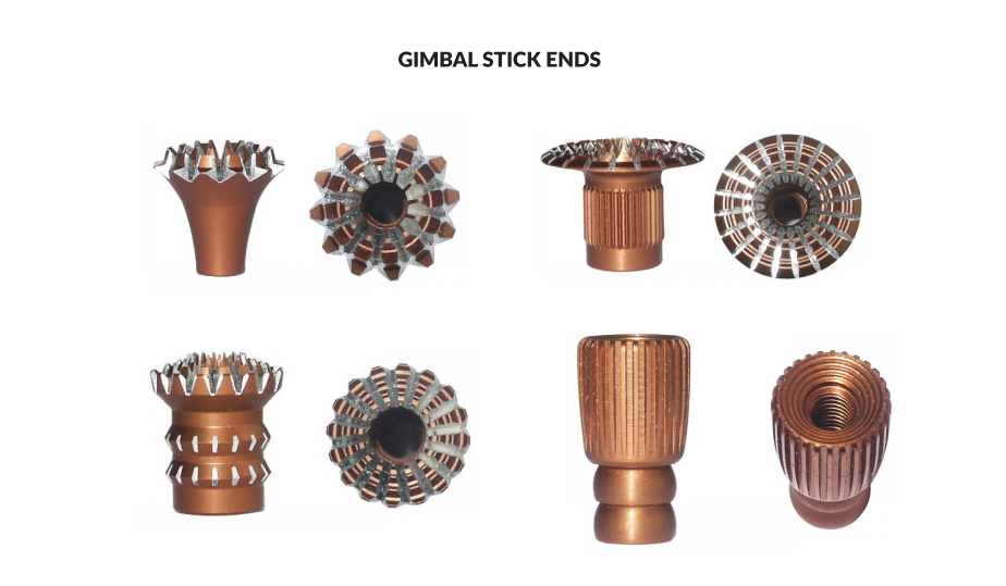 Different types of Gimbal Stick Ends for Radio Transmitter