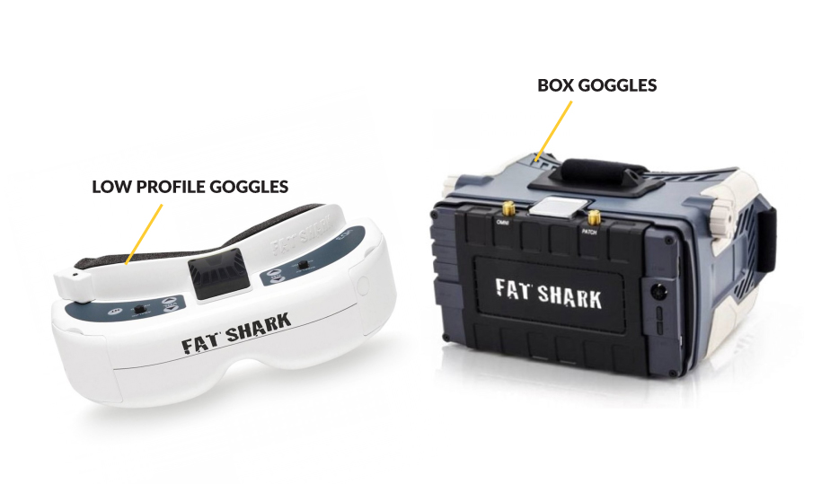 Difference between Low Profile FPV Goggles and Box Goggles