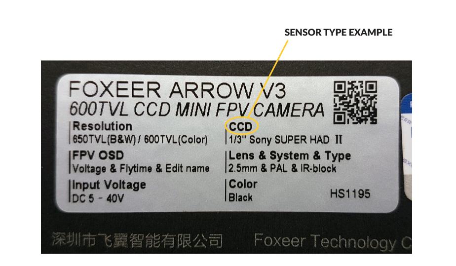FPV Sensor type example
