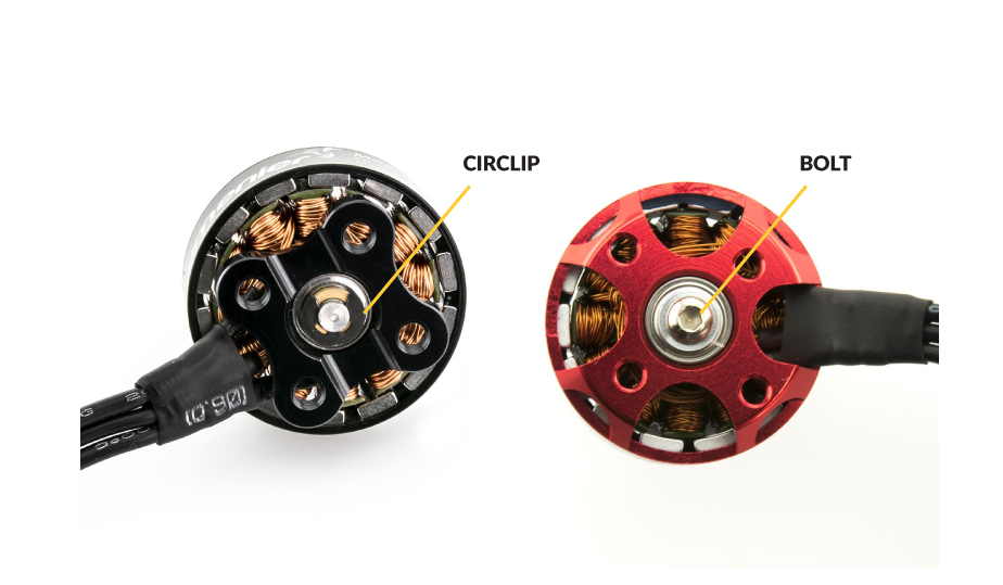 Difference between Circlip and Bolt Brushless Motor Bell Lock