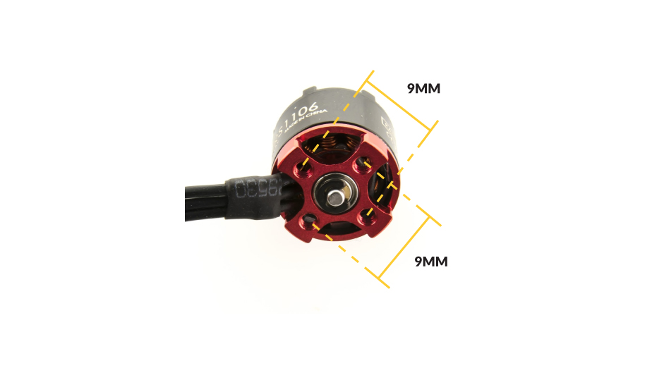110x Brushless Motor thread sizing