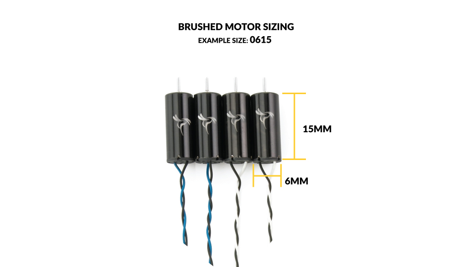 How a brushed motor size is determined