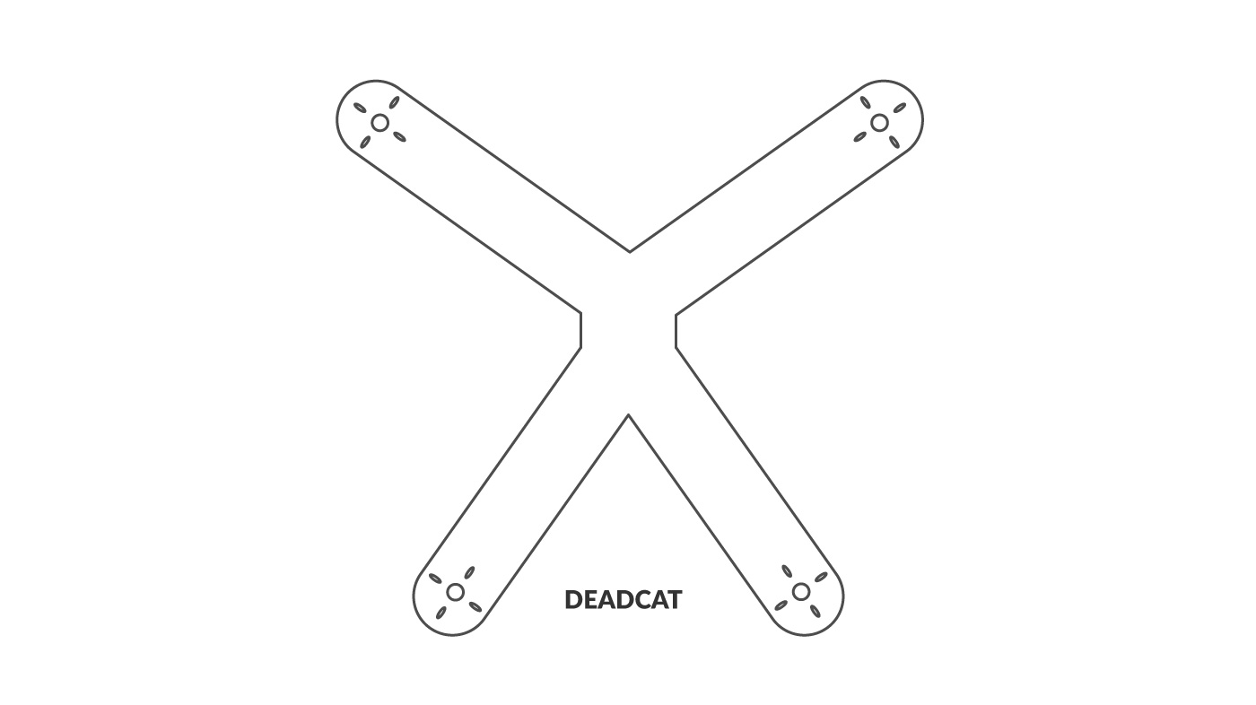 FPV Frame with Deadcat Configuration