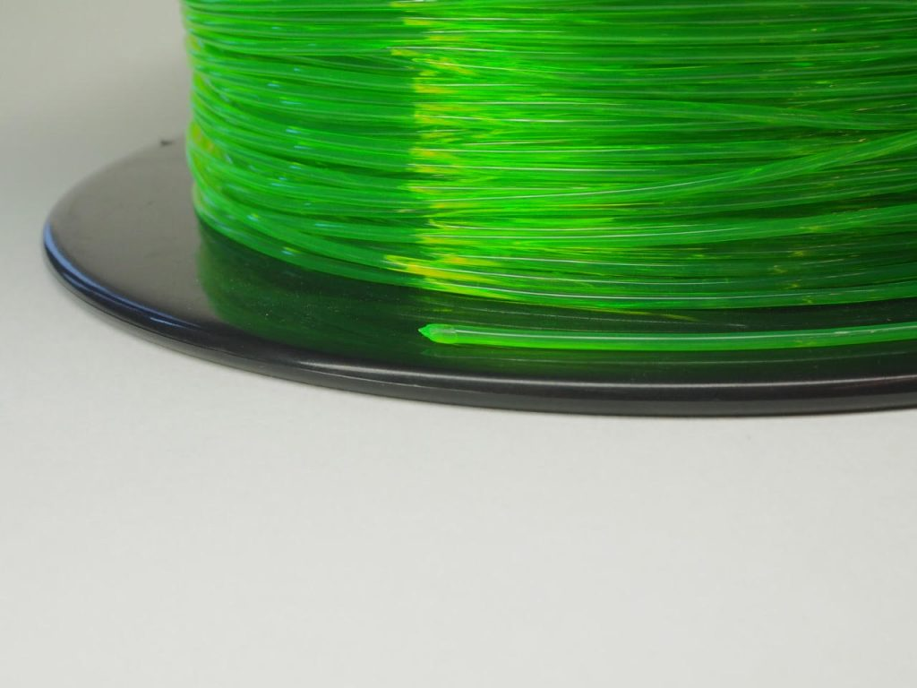 3D Printing for FPV Sainsmart Green TPU Reel Closeup 1.75mm