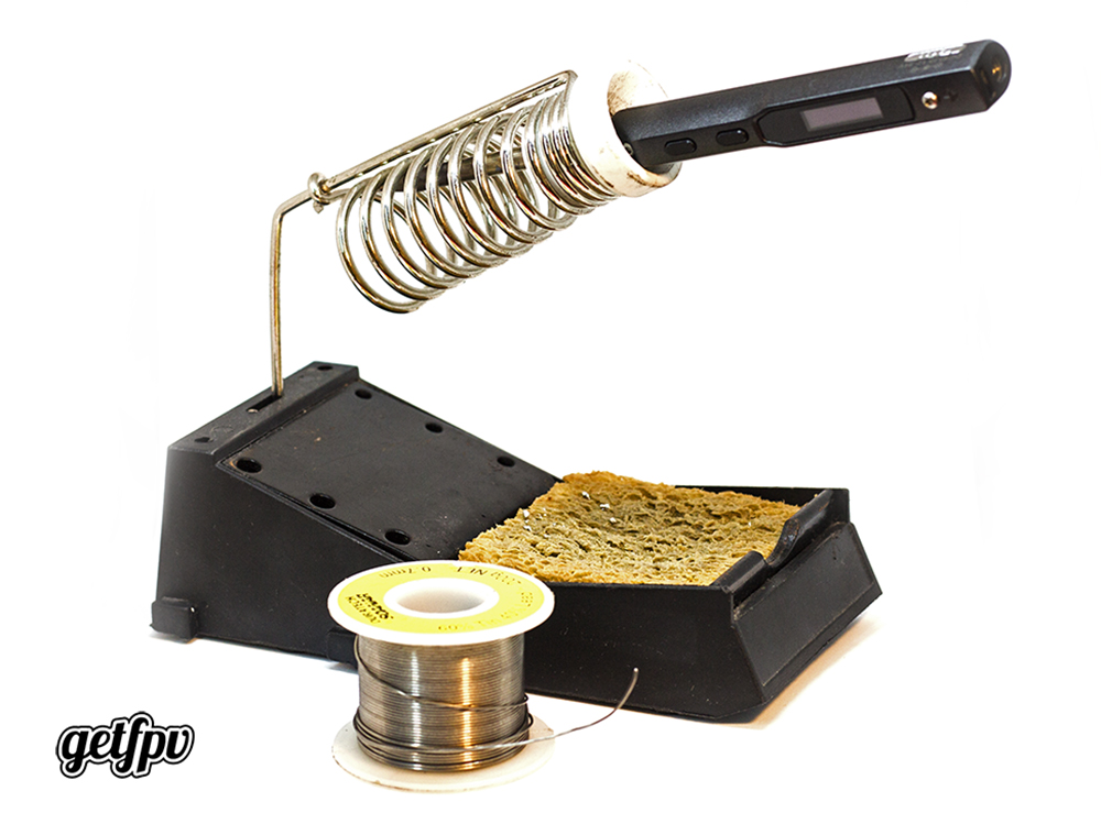 Good quality soldering stand with sponge and solder - How to Solder