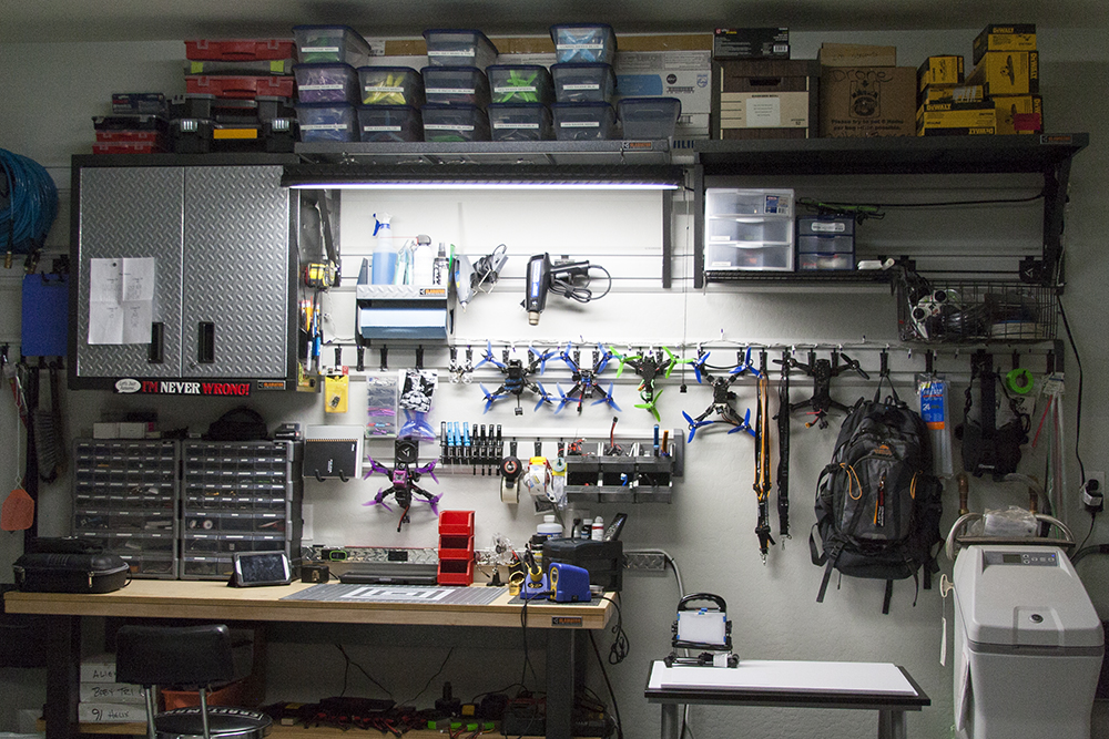 Total work space showing a clean and organized area