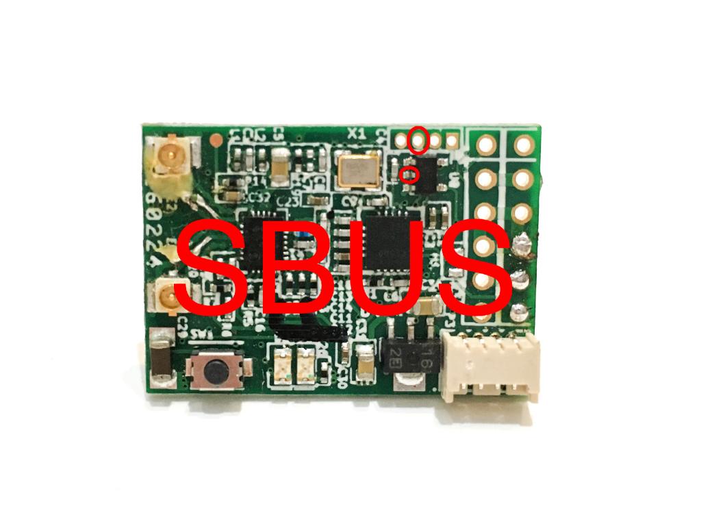 FrSky X4R SBUS Receiver Top Uninverted SBUS Hack