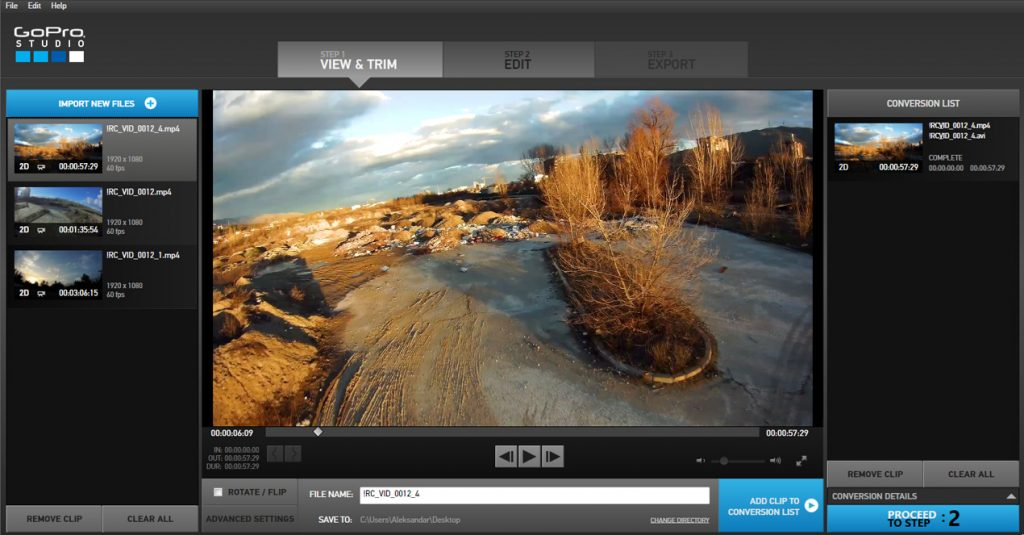 Recording and editing FPV drone video HD footage