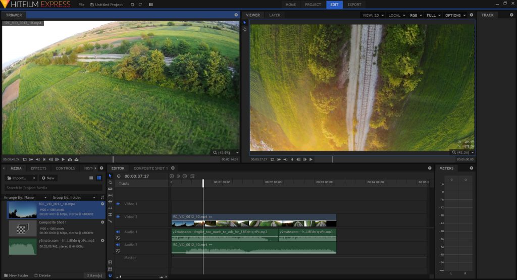 Recording and editing fpv drone video hd footage hitfilm express video editor screenshot ccuart Images