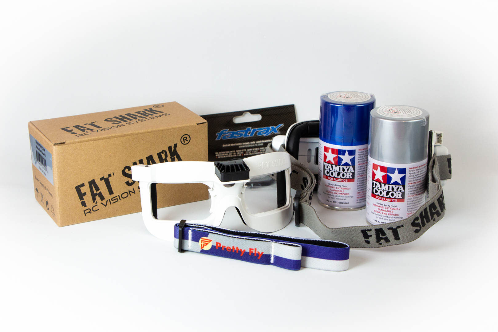 Paint cans used to paint goggles