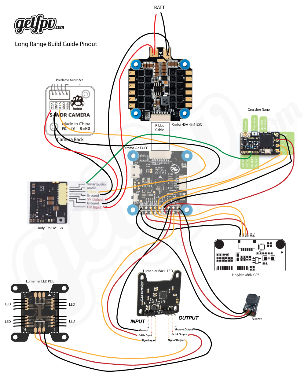 Long Range Fpv Quadcopter Build Log Raggio Lungo Getfpv Learn Wiring Diagrams Page 8 Five Pinout Diagram To Reference