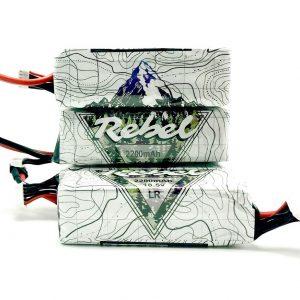 Long range FPV drone Battery lithium polymer 6S 2200mAh white heat shrink mountain design Rebel miniquads