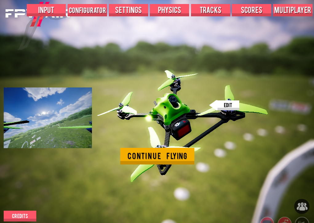 FPV Air 2 - Menu Screen