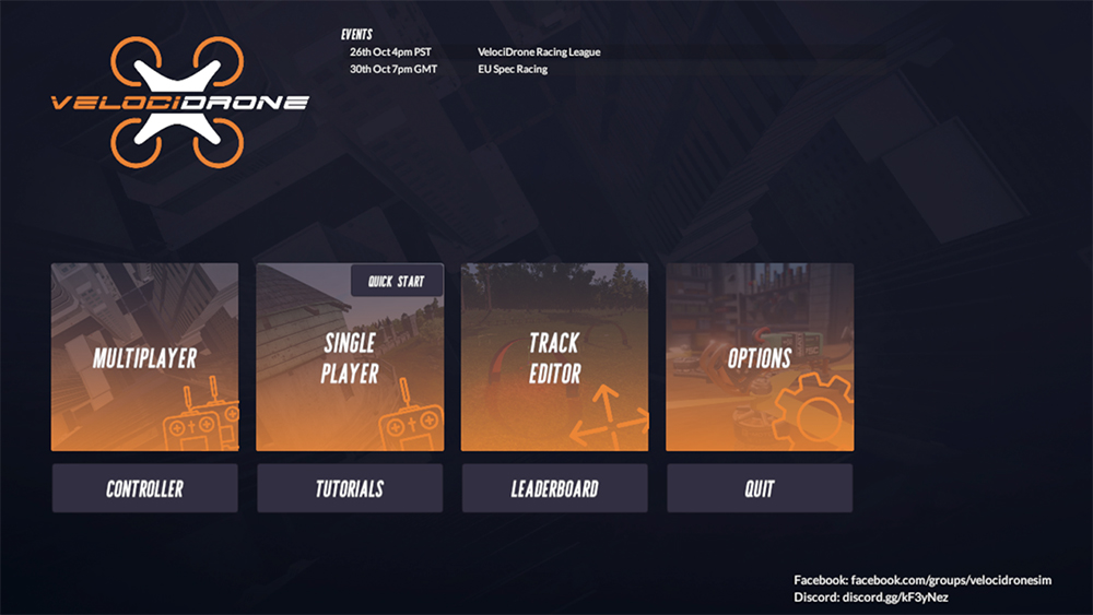 Velocidrone-Game-Select