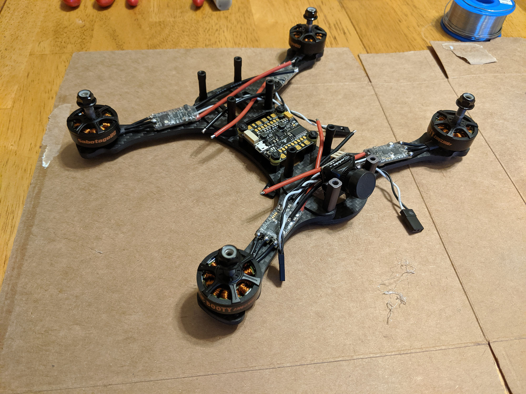 Remote ID - Image of partially-assembled FPV drone