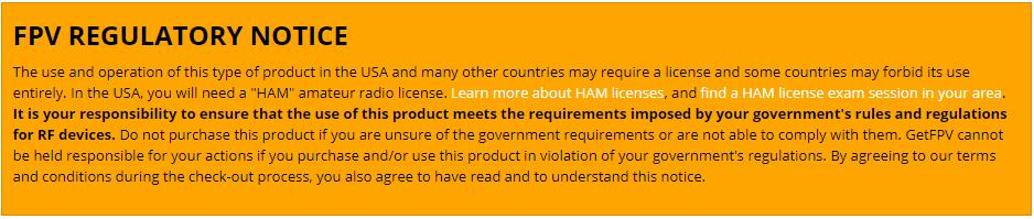 Ham Radio - Regulatory Notice