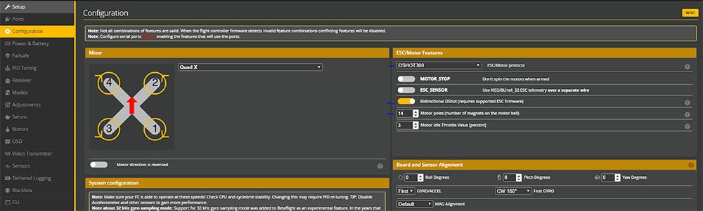 RPM Filtering - Betaflight-4