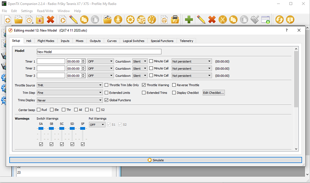 OpenTX Companion-New-Model-3