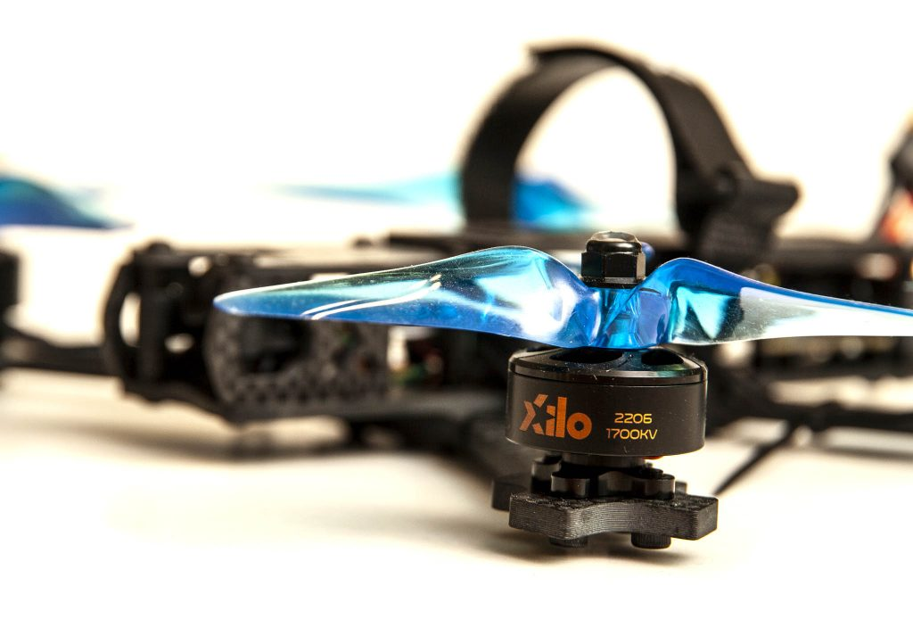 Xile PhreakStyle Build Kit - assembled quad with motor detail