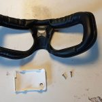 Fatshark HDO2 disassembly: Face plate, bay cover and and shell screws