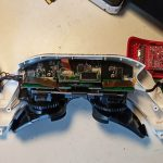 Fatshark HDO2 disassembly: upper shell with electronics