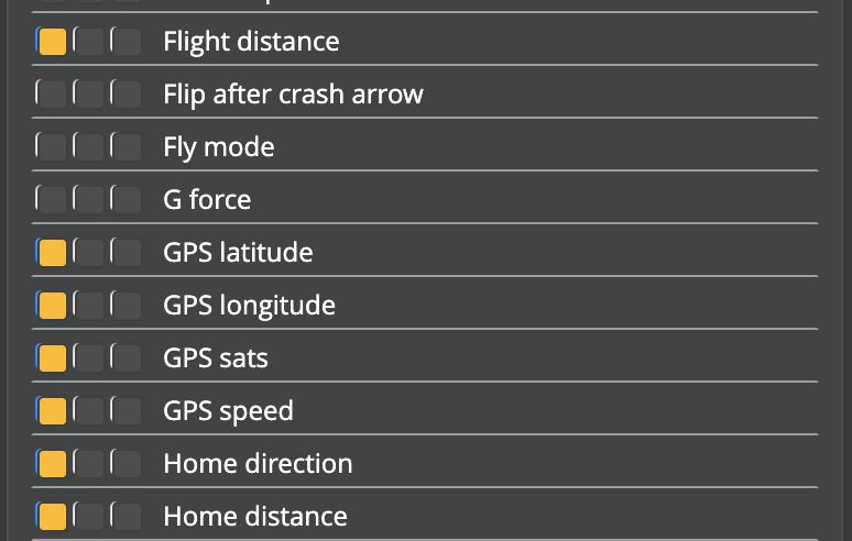 GPS Rescue Setup - OSD panel