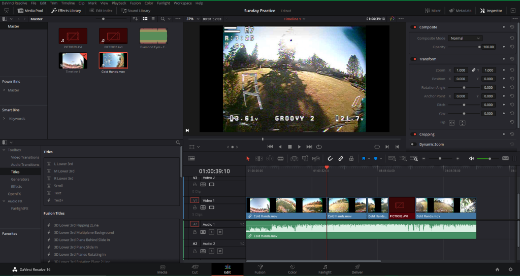 DaVinci Resolve - Editing