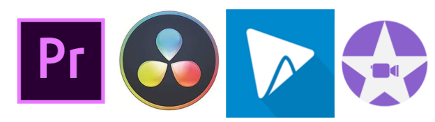 Logos of video editing software