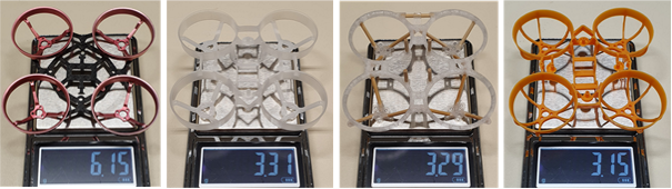 Whoop frame weight comparison
