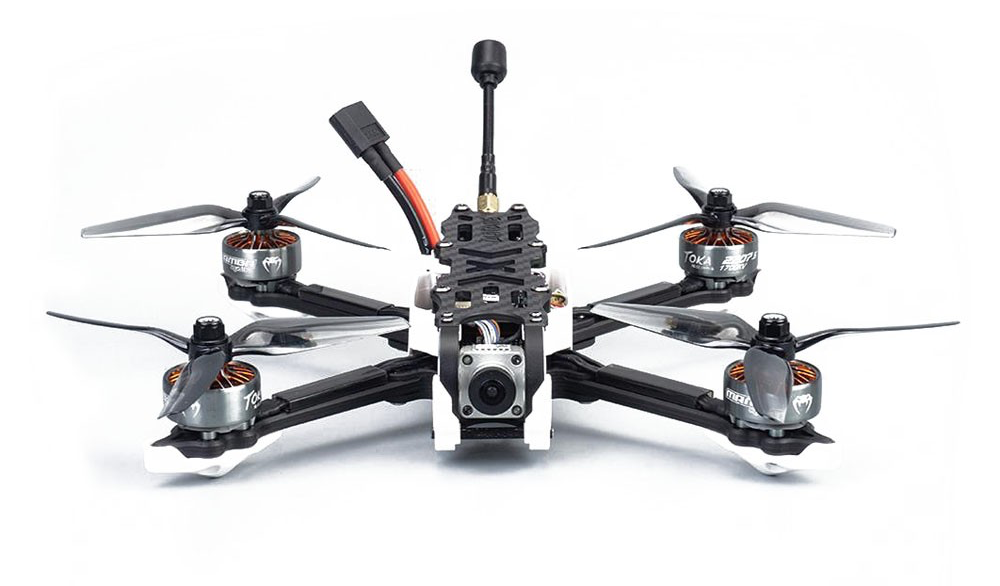 FPV drone ready to fly